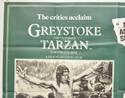 GREYSTOKE THE LEGEND OF TARZAN (Top Left) Cinema Quad Movie Poster