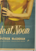HIGH TIDE AT NOON (Bottom Right) Cinema One Sheet Movie Poster