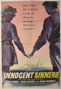 INNOCENT SINNERS Cinema One Sheet Movie Poster