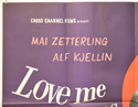 LOVE ME AS LONG AS YOU LIKE (Top Left) Cinema Quad Movie Poster