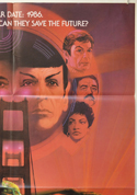 STAR TREK IV : THE VOYAGE HOME (Top Right) Cinema One Sheet Movie Poster