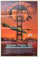 STAR TREK IV : THE VOYAGE HOME Cinema One Sheet Movie Poster