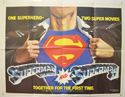SUPERMAN / SUPERMAN II Cinema Quad Movie Poster