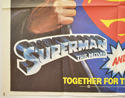 SUPERMAN / SUPERMAN II (Bottom Left) Cinema Quad Movie Poster