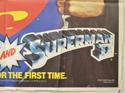 SUPERMAN / SUPERMAN II (Bottom Right) Cinema Quad Movie Poster