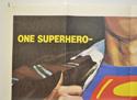 SUPERMAN / SUPERMAN II (Top Left) Cinema Quad Movie Poster
