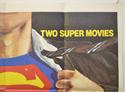 SUPERMAN / SUPERMAN II (Top Right) Cinema Quad Movie Poster