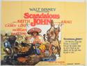 SCANDALOUS JOHN Cinema Quad Movie Poster