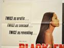 BLACK EMMANUELLE WHITE EMMANUELLE (Top Left) Cinema Quad Movie Poster