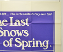 THE LAST SNOWS OF SPRING (Top Right) Cinema Quad Movie Poster