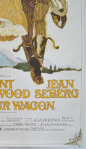 PAINT YOUR WAGON (Bottom Right) Cinema 4 Sheet Movie Poster