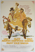 PAINT YOUR WAGON Cinema 4 Sheet Movie Poster