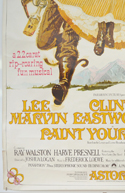 PAINT YOUR WAGON (Bottom Left) Cinema 4 Sheet Movie Poster