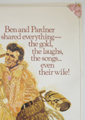 PAINT YOUR WAGON (Top Right) Cinema 4 Sheet Movie Poster