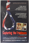 CAPTURING THE FRIEDMANS Cinema 4 Sheet Movie Poster