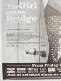 THE GIRL ON THE BRIDGE (Bottom Left) Cinema 4 Sheet Movie Poster