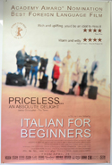 Italian For Beginners <p><i> (British 4 Sheet Poster) </i></p>