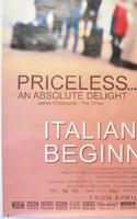 ITALIAN FOR BEGINNERS (Bottom Left) Cinema 4 Sheet Movie Poster