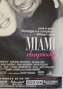MIAMI RHAPSODY (Bottom Right) Cinema 4 Sheet Movie Poster