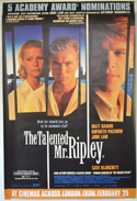 Talented Mr. Ripley (The) <p><i> (British 4 Sheet Poster) </i></p>