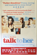 TALK TO HER Cinema 4 Sheet Movie Poster
