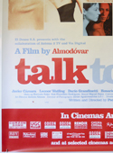 TALK TO HER (Bottom Left) Cinema 4 Sheet Movie Poster