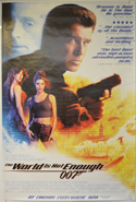 007 : THE WORLD IS NOT ENOUGH Cinema 4 Sheet Movie Poster