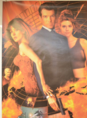007 : THE WORLD IS NOT ENOUGH (Top Left) Cinema 4 Sheet Movie Poster