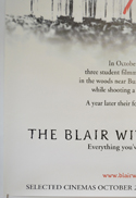THE BLAIR WITCH PROJECT (Bottom Left) Cinema 4 Sheet Movie Poster