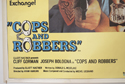 COPS AND ROBBERS / THE OUTSIDE MAN (Bottom Left) Cinema Quad Movie Poster