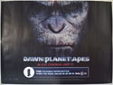 DAWN OF THE PLANET OF THE APES Cinema Quad Movie Poster