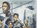 BLACK PANTHER (Top Right) Cinema Quad Movie Poster