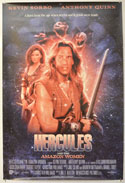 HERCULES AND THE AMAZON WOMEN Cinema One Sheet Movie Poster