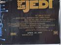 STAR WARS EPISODE VI : THE RETURN OF THE JEDI (Bottom Right) Cinema Quad Movie Poster
