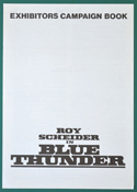 Blue Thunder <p><i> Original 4 Page Cinema Exhibitor's Campaign Press Book </i></p>