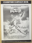 NATIONAL LAMPOON'S VACATION Cinema Exhibitors Campaign Press Book