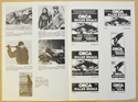 ORCA THE KILLER WHALE Cinema Exhibitors Campaign Press Book - BACK