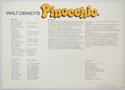 PINOCCHIO Cinema Exhibitors Synopsis Credits Sheet - BACK