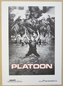PLATOON Cinema Exhibitors Synopsis Credits Booklet