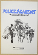 Police Academy <p><i> Original Cinema Exhibitor's Synopsis / Credits Booklet </i></p>