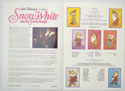 SNOW WHITE AND THE SEVEN DWARFS Cinema Exhibitors Synopsis Credits Booklet - INSIDE