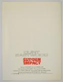 SUDDEN IMPACT Cinema Press Synopsis - BACK