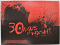 30 DAYS OF NIGHT Cinema Quad Movie Poster