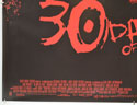 30 DAYS OF NIGHT (Bottom Left) Cinema Quad Movie Poster