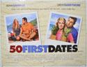 50 FIRST DATES Cinema Quad Movie Poster