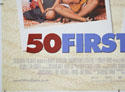 50 FIRST DATES (Bottom Left) Cinema Quad Movie Poster