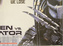 ALIEN VS PREDATOR (Bottom Right) Cinema Quad Movie Poster