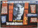 BREAKDOWN Cinema Quad Movie Poster