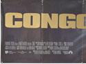 CONGO (Bottom Left) Cinema Quad Movie Poster