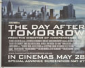 THE DAY AFTER TOMORROW (Bottom Left) Cinema Quad Movie Poster